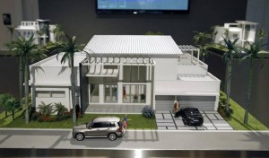 A model of Oasis park square single family home at the Oasis Park Square sales center 3470 NW 82nd Avenue, Suite 108, Doral. (PHOTO CREDIT: AL DIAZ MIAMI HERALD STAFF)