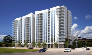 The Grove Station Tower rental project is next to the Coconut Grove Metrorail station