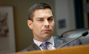 City of Miami Commissioner Francis Suarez, during commission meeting about the approval of the Worldcenter in Downtown Miami. (Photo Credit: J. Albert Diaz)